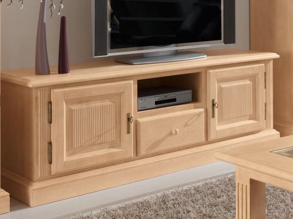 TV Lowboard TV Schrank Casapino 160 cm 2 Holztüren 1 Schublade 1 offenes Fach Pinie massiv
