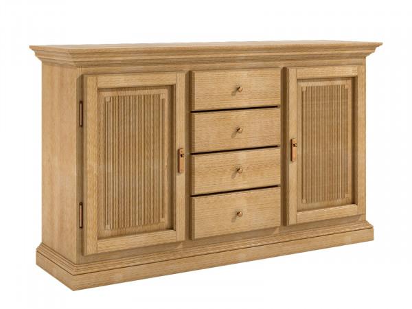 Sideboard Anrichte 2 Türen 4 Schubladen Duett B 162 H 87 cm Pinie massiv