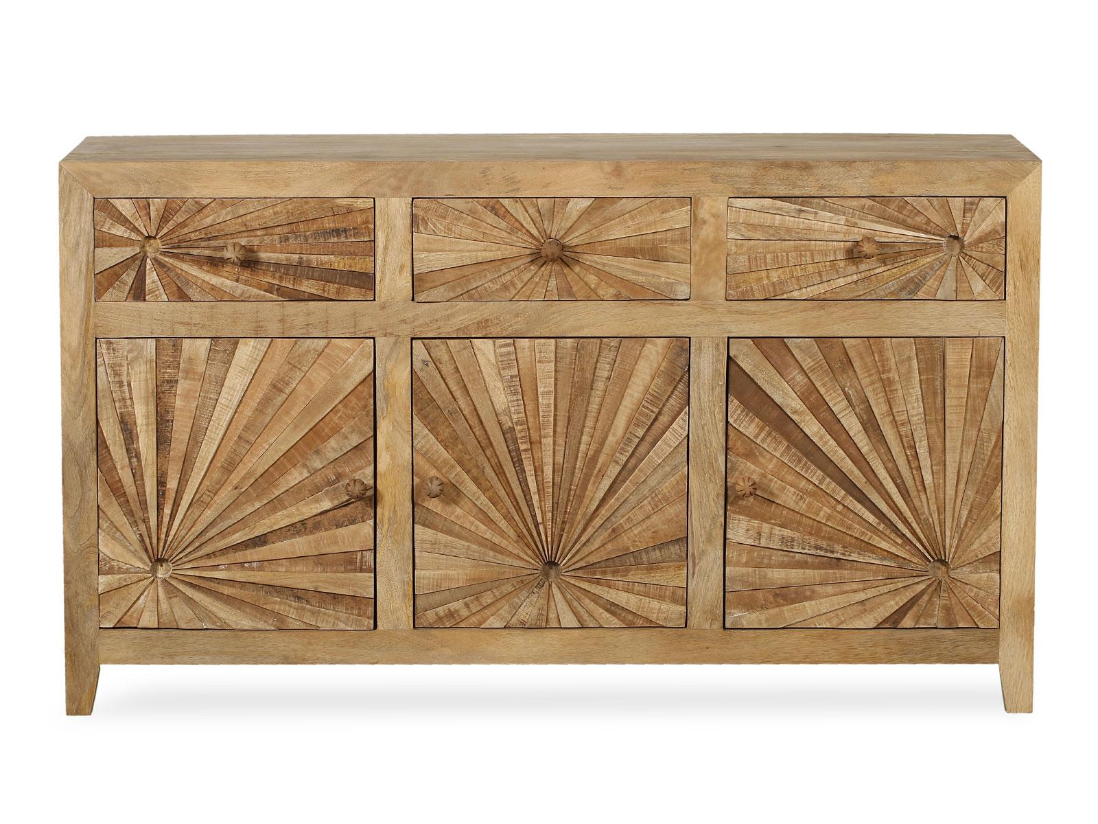Sideboard Anrichte Orient Sun Mangoholz Sagerau Massiv 140x80x40 Cm