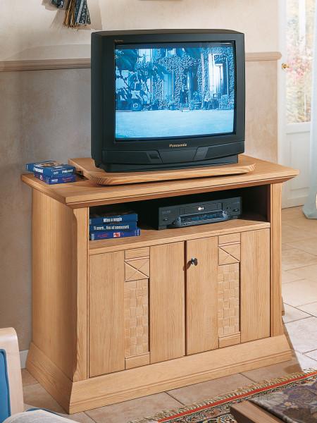 TV Schrank Fernsehschrank Vienna B 100 x H 77 cm, Pinie massiv