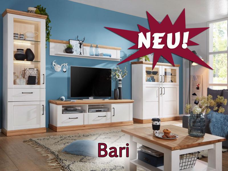 Bari Landhaus Möbel Aus Pinie Nordica Weiß Lackiert Mit