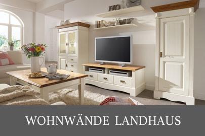 Landhausmöbel aus Massivholz für alle Wohnbereiche weiß und ...