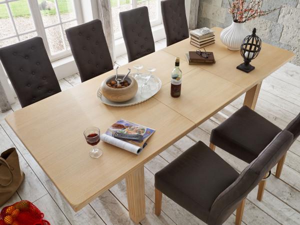 Esszimmer-Tisch Esstisch Massivholz-Tisch 160/180 x 90/95 cm Casapino mit/ohne Auszug Pinie massiv