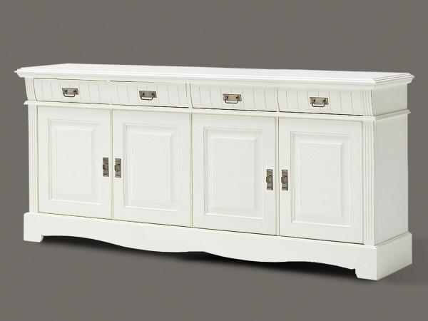 Sideboard Kommode Anrichte Padua 4 Schubladen 4 Türen 203 x 91 x 47 cm Pinie Nordica massiv