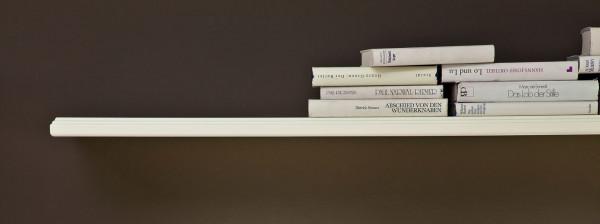 Wandbord Bücherregal Padua 125 cm breit panna mit und ohne LED-Beleuchtung Pinie Nordica massiv