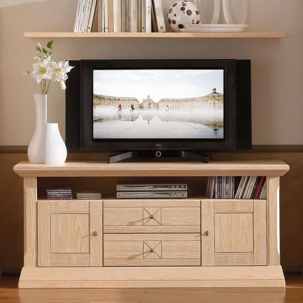 TV Schrank TV Lowboard Vienna B 139 x H 62 cm, Pinie massiv
