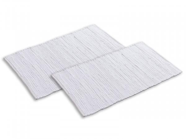 Badteppich Set 2 groß 80 x 50 cm 100% Baumwolle Badematte Badvorleger Badezimmerteppich Chindi vers.