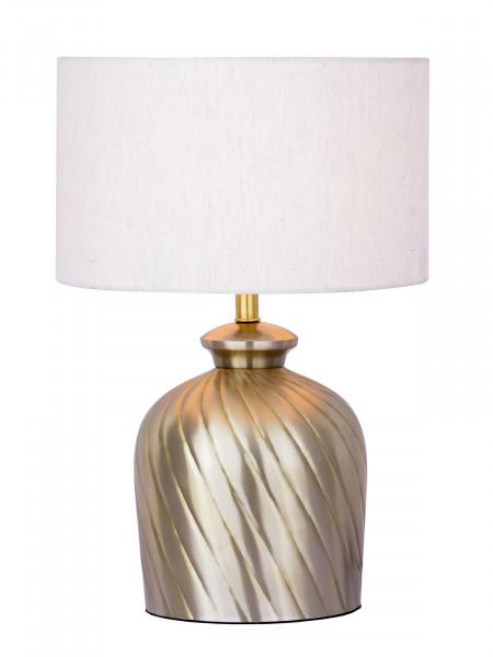 Tischlampe Nachttischlampe ø 30 x H 52 cm Tischleuchte Dekolampe Metall Sockel gold silber