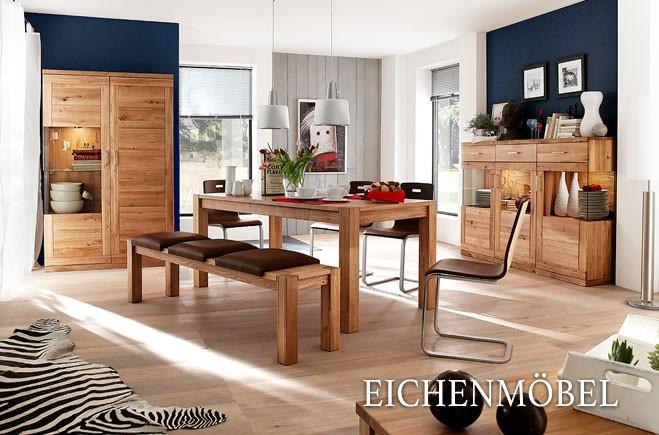 1dc37ef4615072 Esszimmer- und Wohnzimmer-Möbel aus massiver Wildeiche