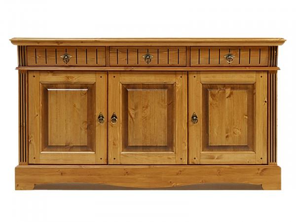 Sideboard Kommode Anrichte Florenz 3 Schuben 3 Türen Pinie Nordica massiv sierra