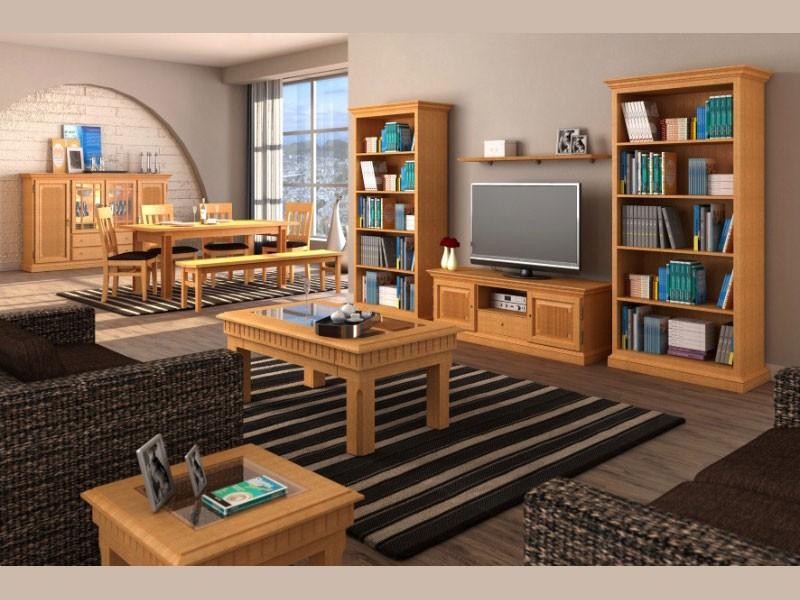 Moderne Wohnzimmer Möbel aus Massivholz - Kreatives Wohnen ...