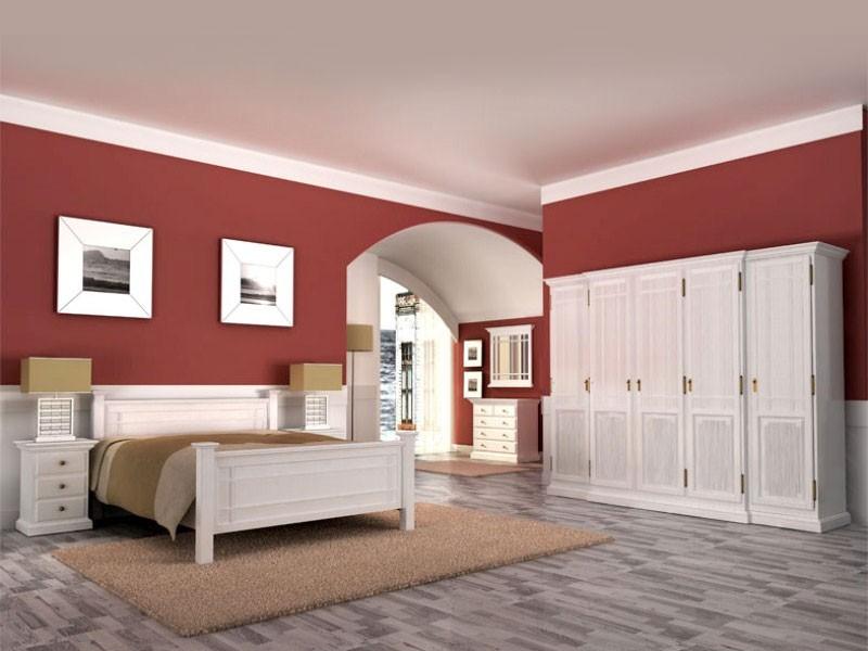 Weiße Schlafzimmer Möbel aus Massivholz. Betten ...