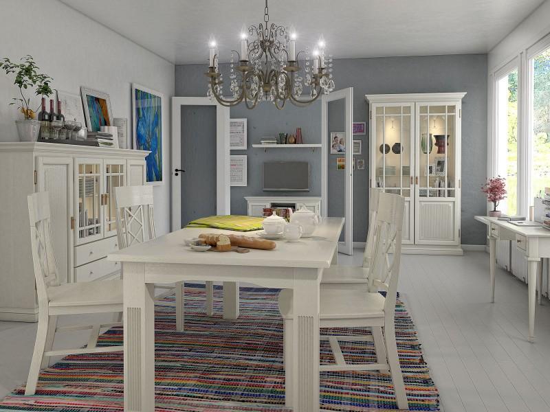 Moderne Und Klassische Esszimmer Aus Massivem Holz In Weiß