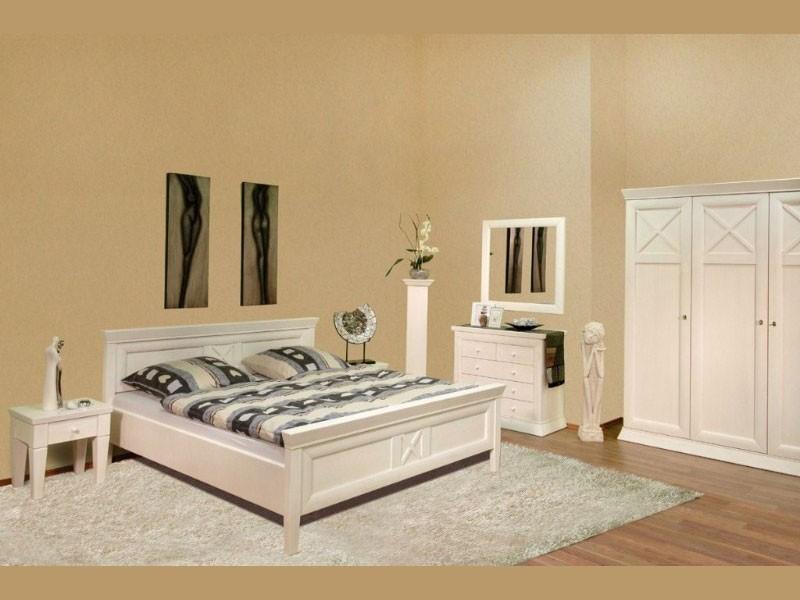 Weiße Schlafzimmer Möbel aus Massivholz. Betten, Kleiderschränke ...