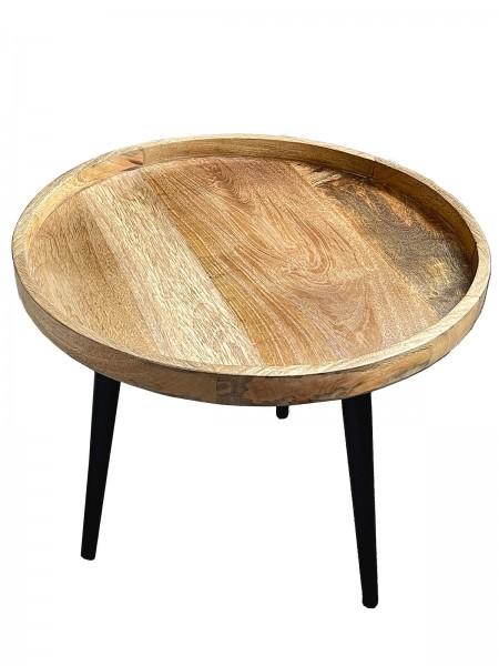 Beistelltisch Couchtisch 2. Wahl Wohnzimmer Tisch rund ø 50 cm Amsterdam Metall-Gestell schwarz matt