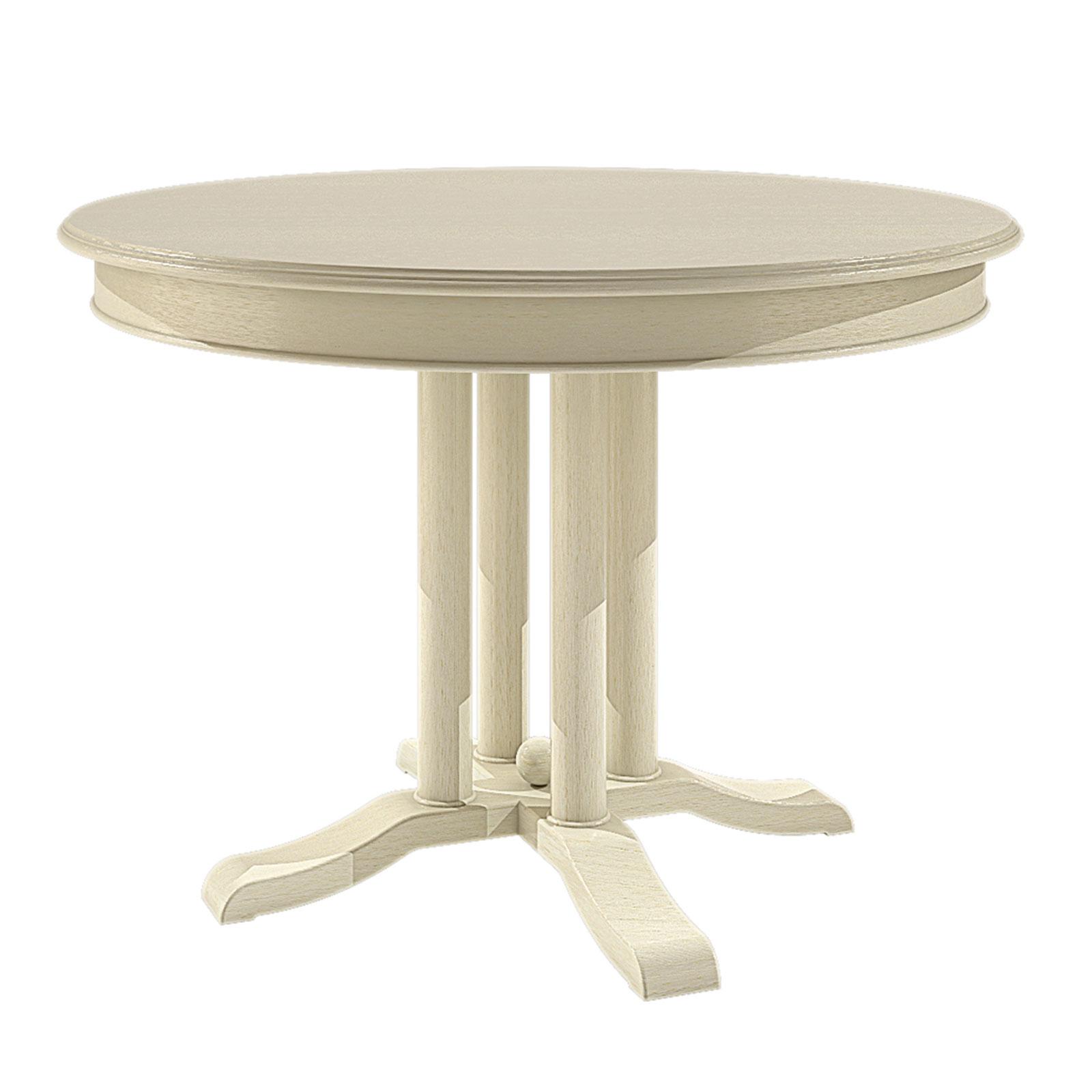 esstisch tisch rund ausziehbar 110 cm allegro mit klappeinlage pinie massiv casamia wohnen