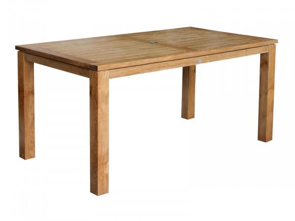 Teakholz-Tisch Gartentisch Nottingham 165 x 90 cm