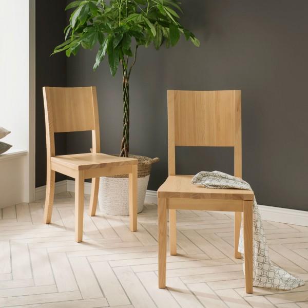 Esszimmer-Stuhl Set Verona 2 Stück Massivholz, Pinie Nordica lackiert