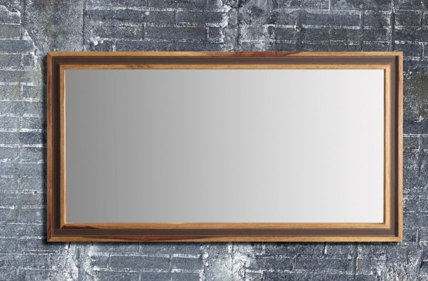 Wandspiegel mit Lederimitatband